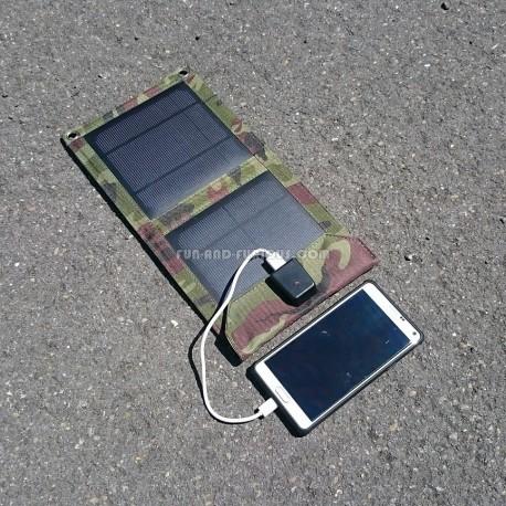 Carregador solar dobrável 7 W