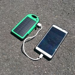 Battery and solar charger Waterproof - 5000 mAh